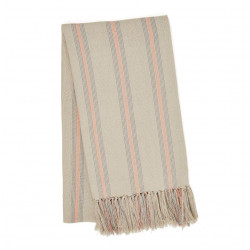 Cannes Coral & Grey Throw