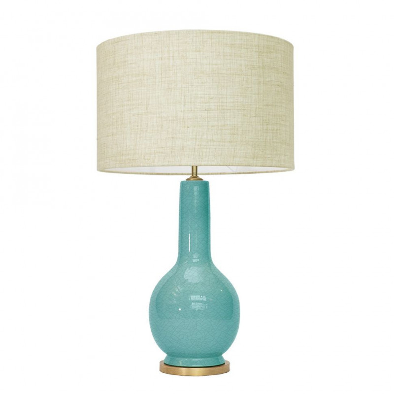 1764 - Lamp and Linen Shade (74cm height)