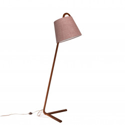 Floor Lamp with Sack Shade