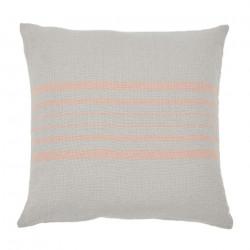 Antibes Linen & Coral Cushion