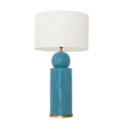 1837 - Lamp and Linen Shade...