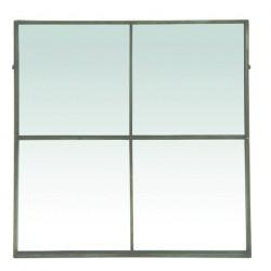 Palacio - Espejo de paneles - Plata envejecido- 80 X 3,5 X 80cm