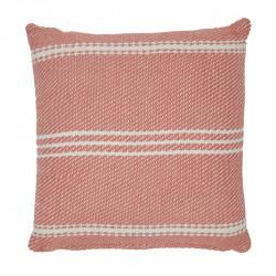 Lightweight Oxford Stripe Coral cushion