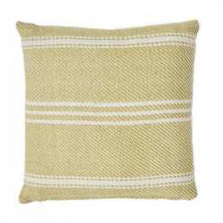 Lightweight Oxford Stripe Gooseberry cushion